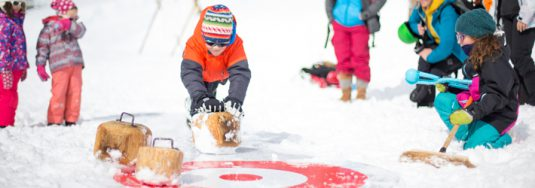 skiing with children-curling-non-ski activities