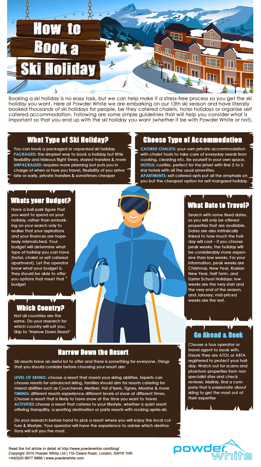 infographic - how to book a ski holiday