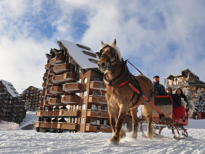 Horse Drawn Sleigh Taxis, Avoriaz