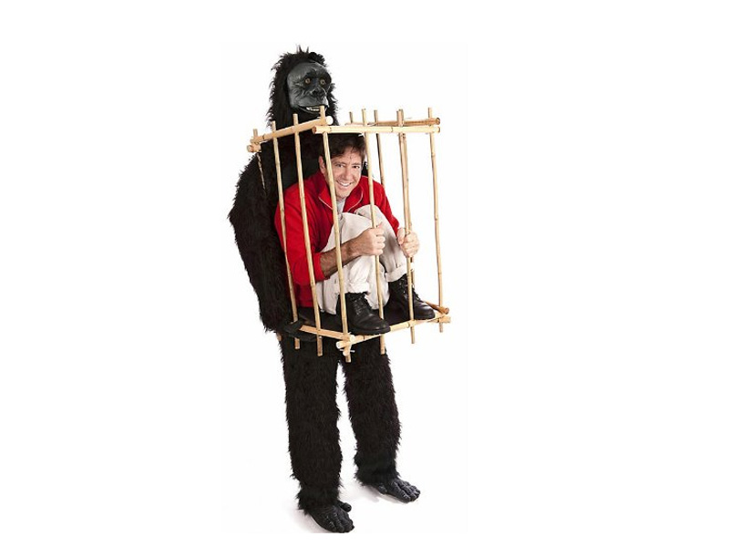Man in a Gorilla Cage Costume - ST