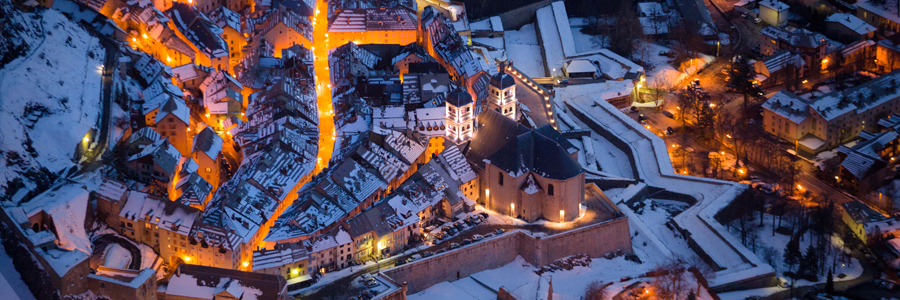 Serre Chevalier skiing in January