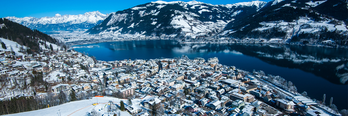 Zell am See skiing in January