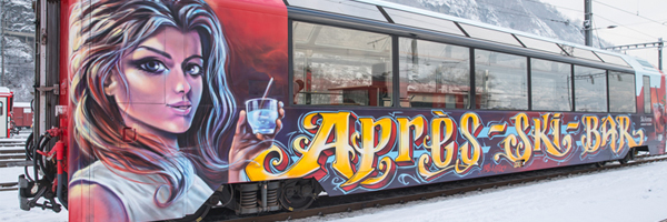 apres ski train in Andermatt