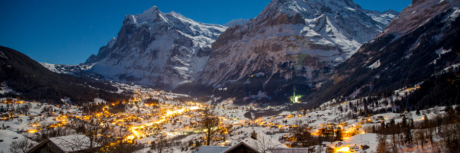 Grindelwald skiing in January
