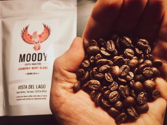 coffee beans at Moody Coffee Roasters in Chamonix