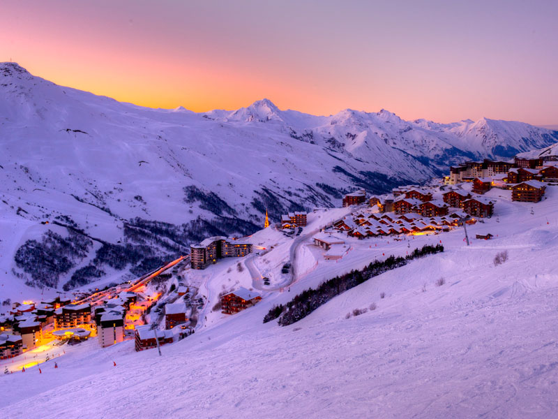 half term family friendly skiing in Les Menuires