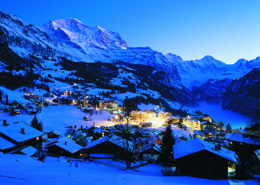 half term family friendly skiing in Wengen