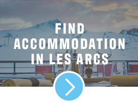 accommodation in les arcs, france