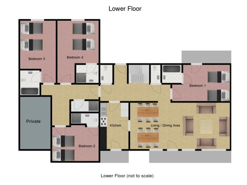 Chalet Noemie Floorplan - Lower Floor