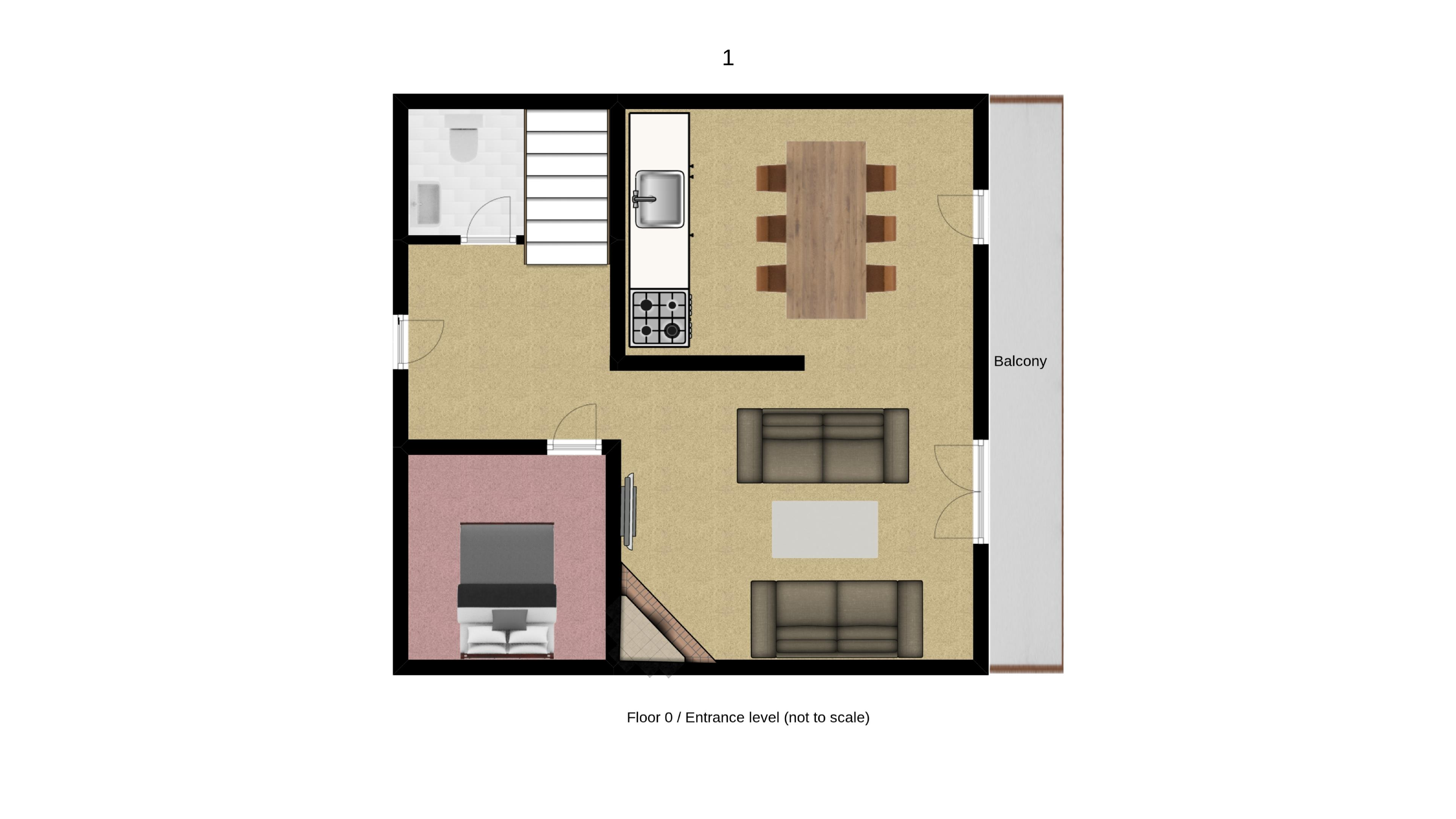Chalet Annabel Floorplan - Lower Floor