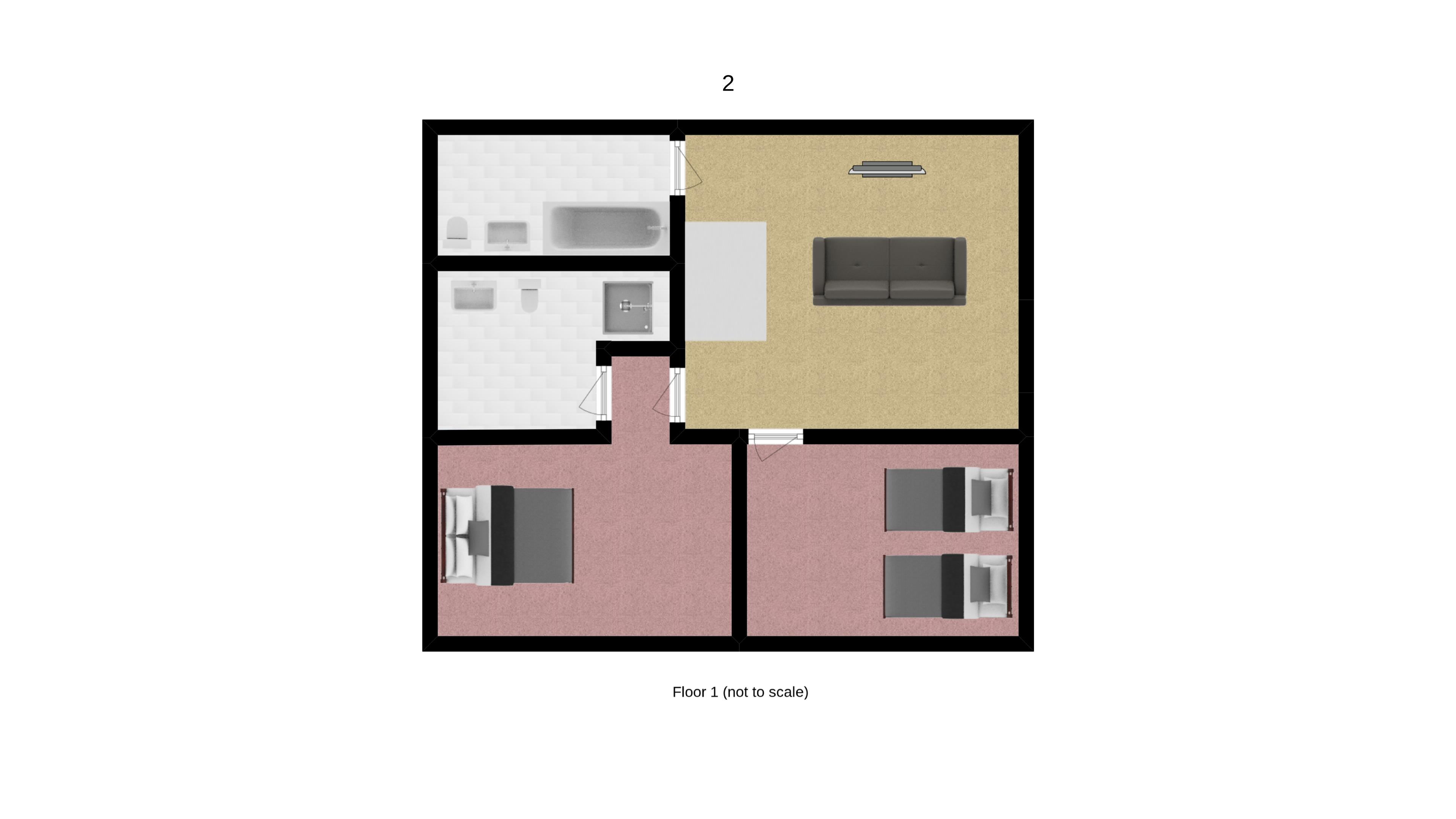 Chalet Annabel Floorplan - Upper Floor