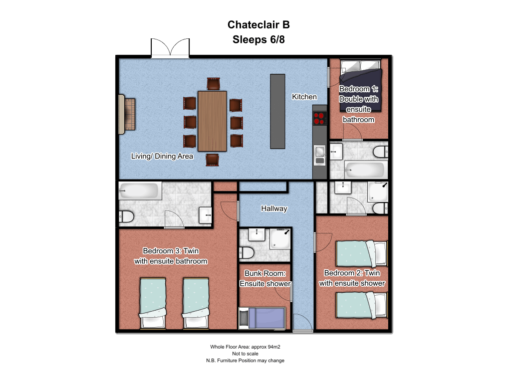 Chalet Chanteclair B Floorplan
