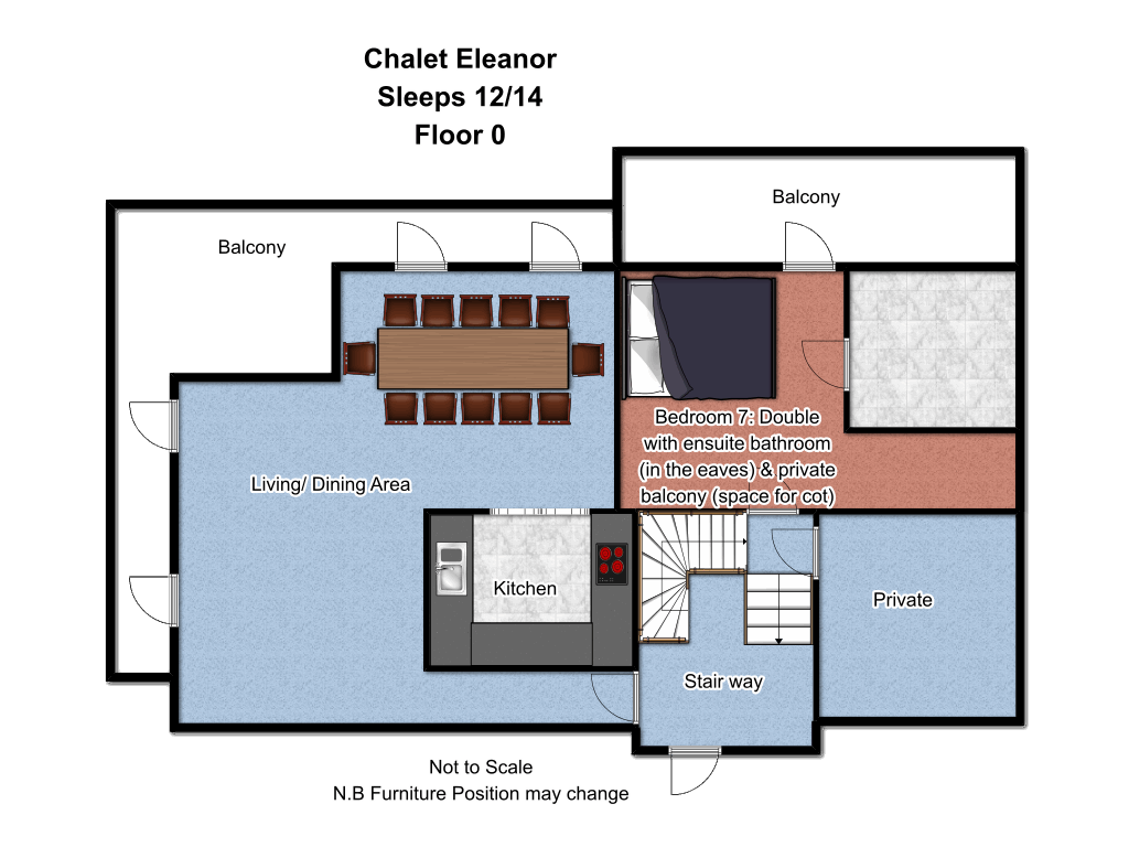 Chalet Eleanor Floorplan