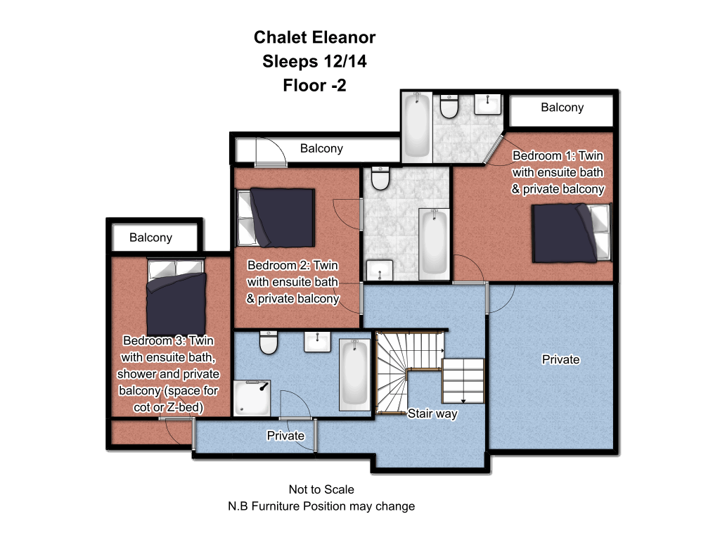 Chalet Eleanor Floorplan 2