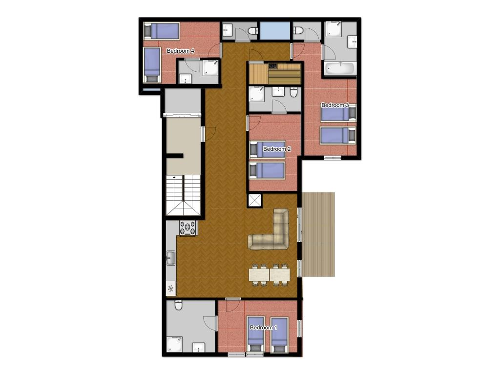 Chalet Nokota Floorplan