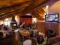 Chalet Montana Planton Lounge with Fireplace