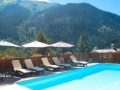 Outdoor pool, Hotel Ancolie, La Plagne