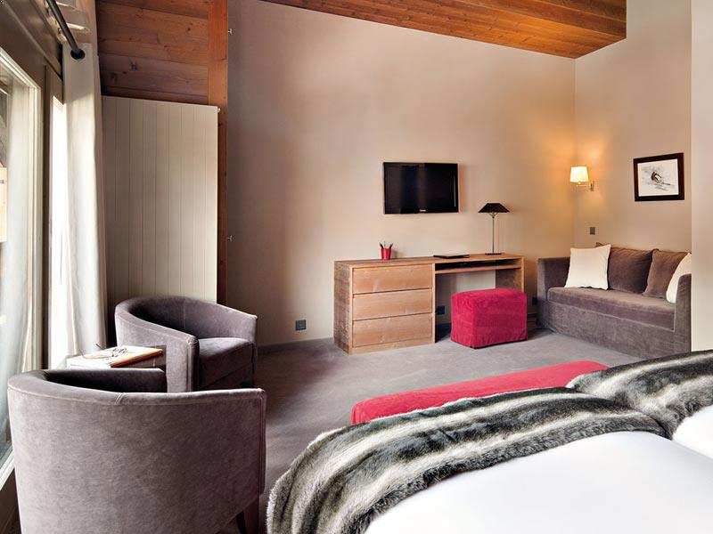 Bedroom and sofa bed, Penthouse in Hotel Vanessa, Verbier