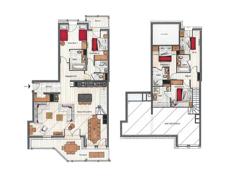 Floor Plan - Five Bedroom Penthouse Apartment for 12