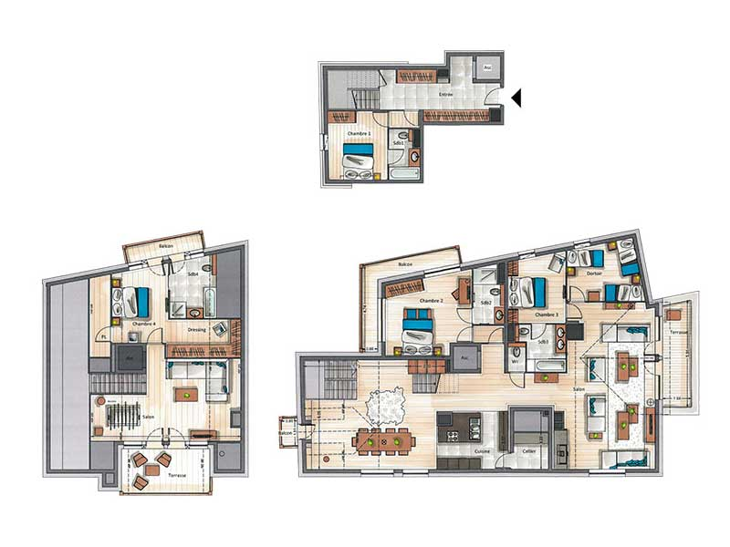 Five Bedroom Penthouse Apartment for 11