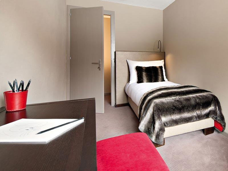 Family Duplex single bed, Hotel Vanessa, Verbier