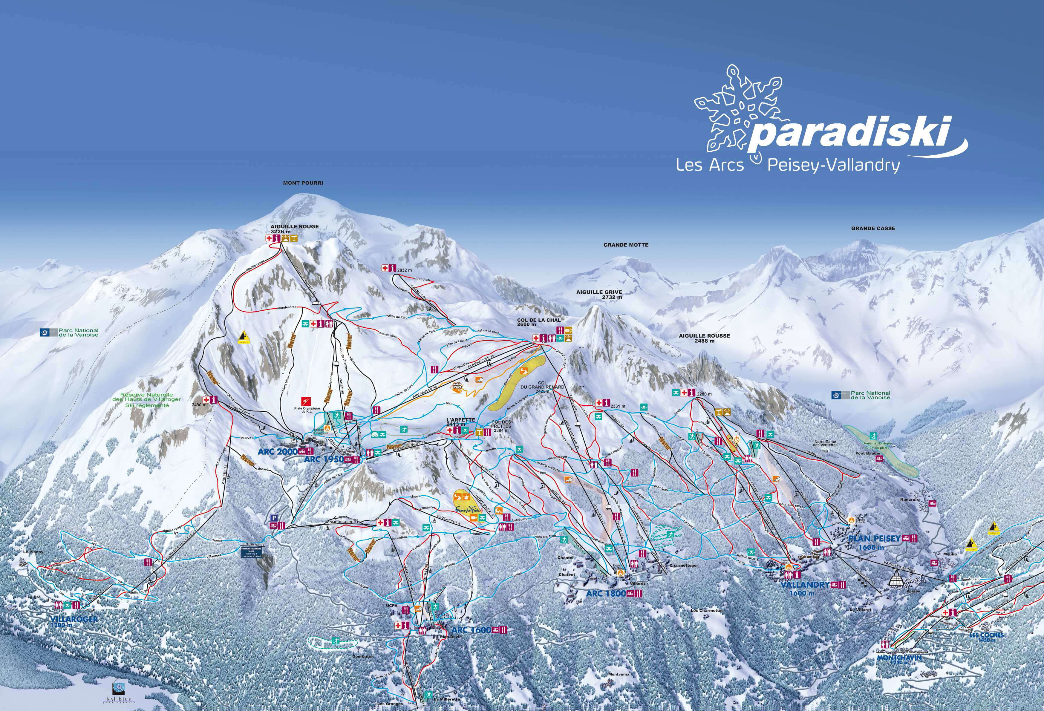 Bourg Saint Maurice piste map