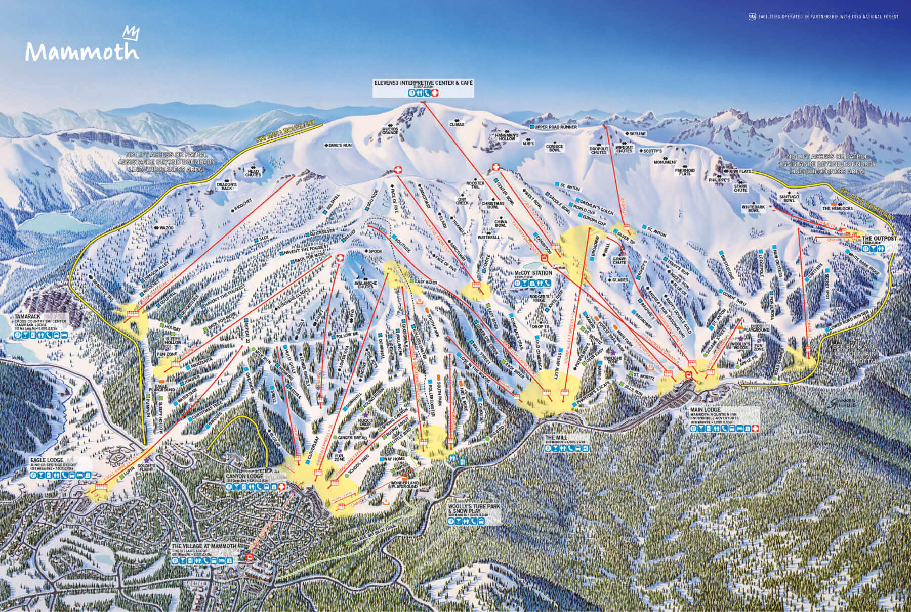 Mammoth Mountain piste map
