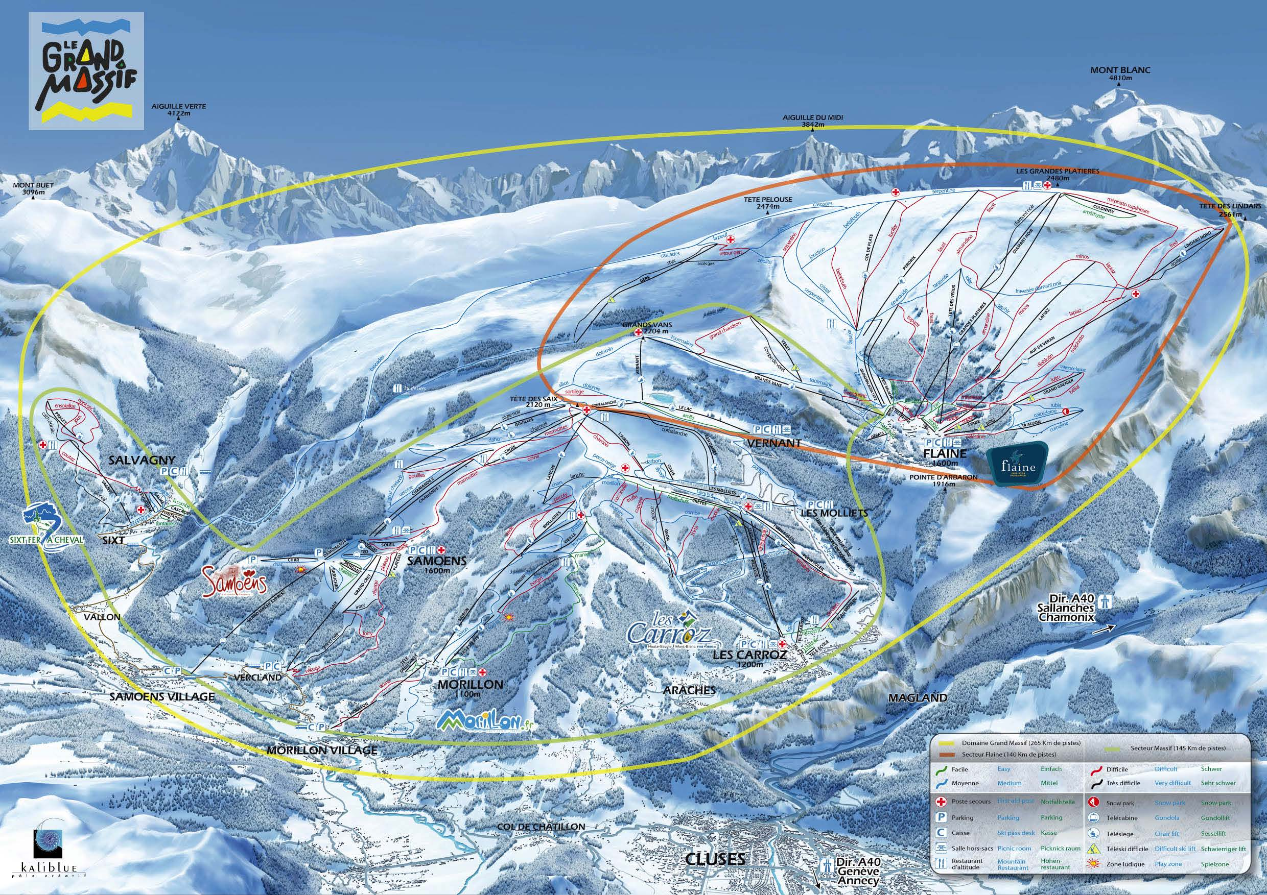Morillon piste map