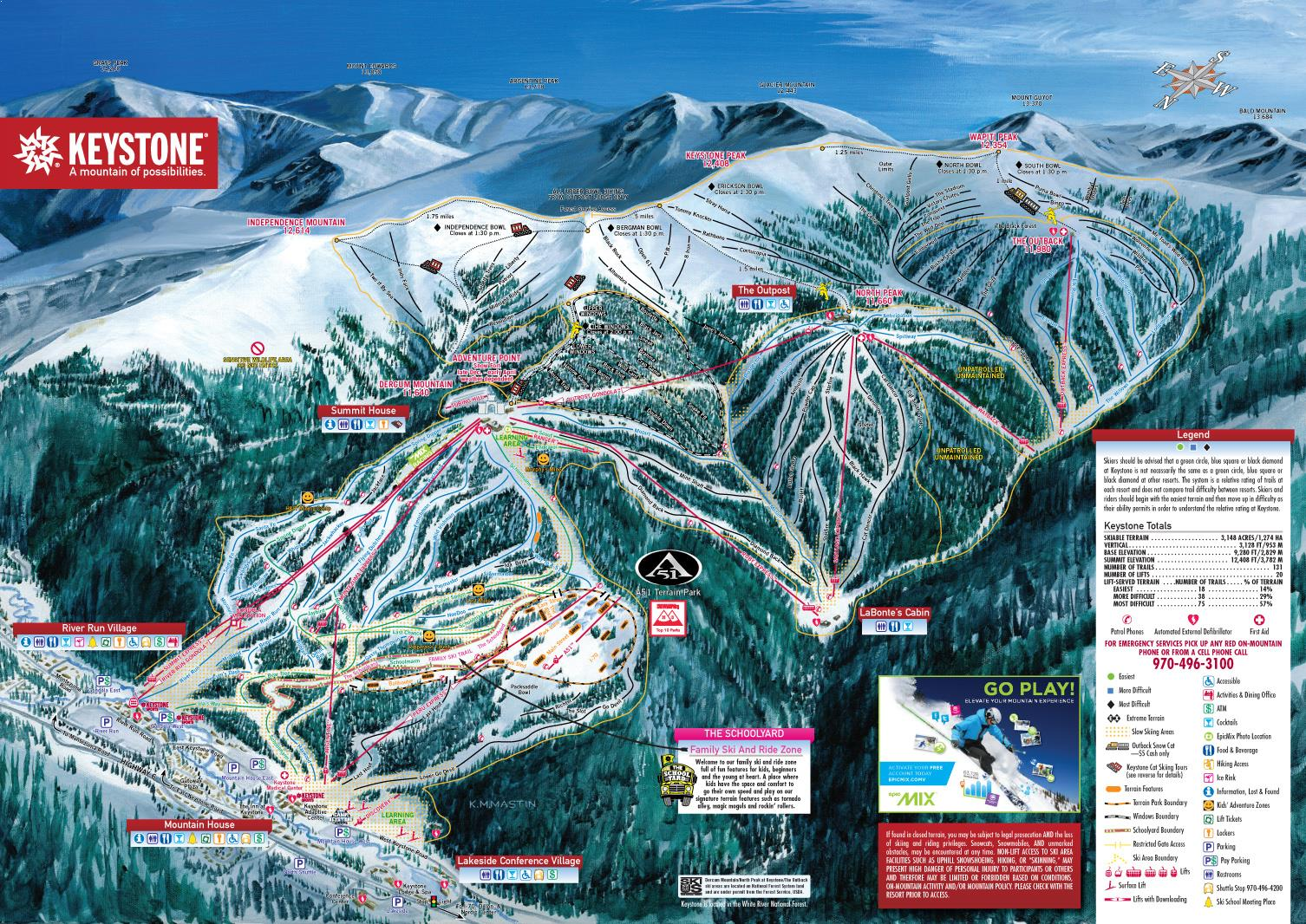 Keystone piste map