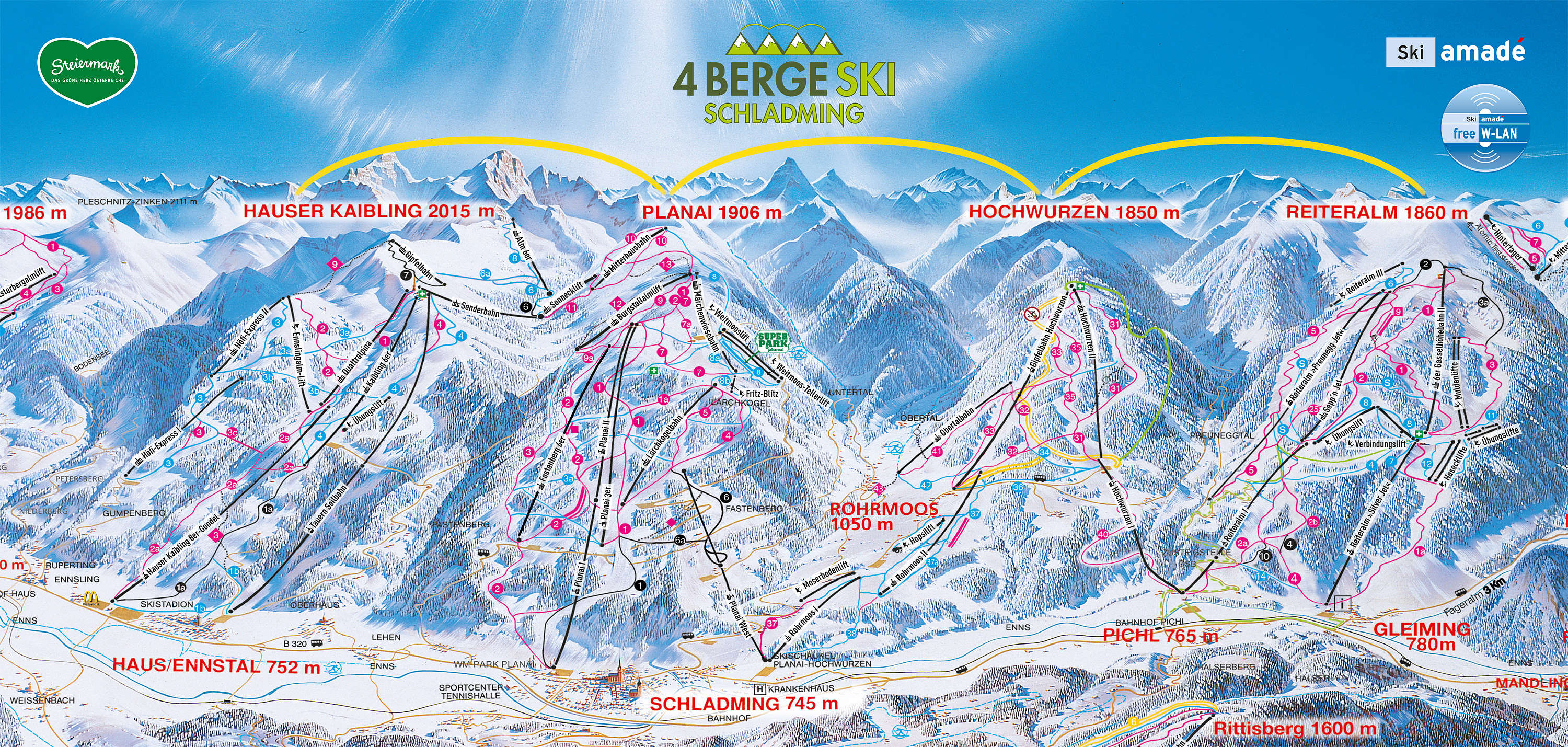 Schladming piste map