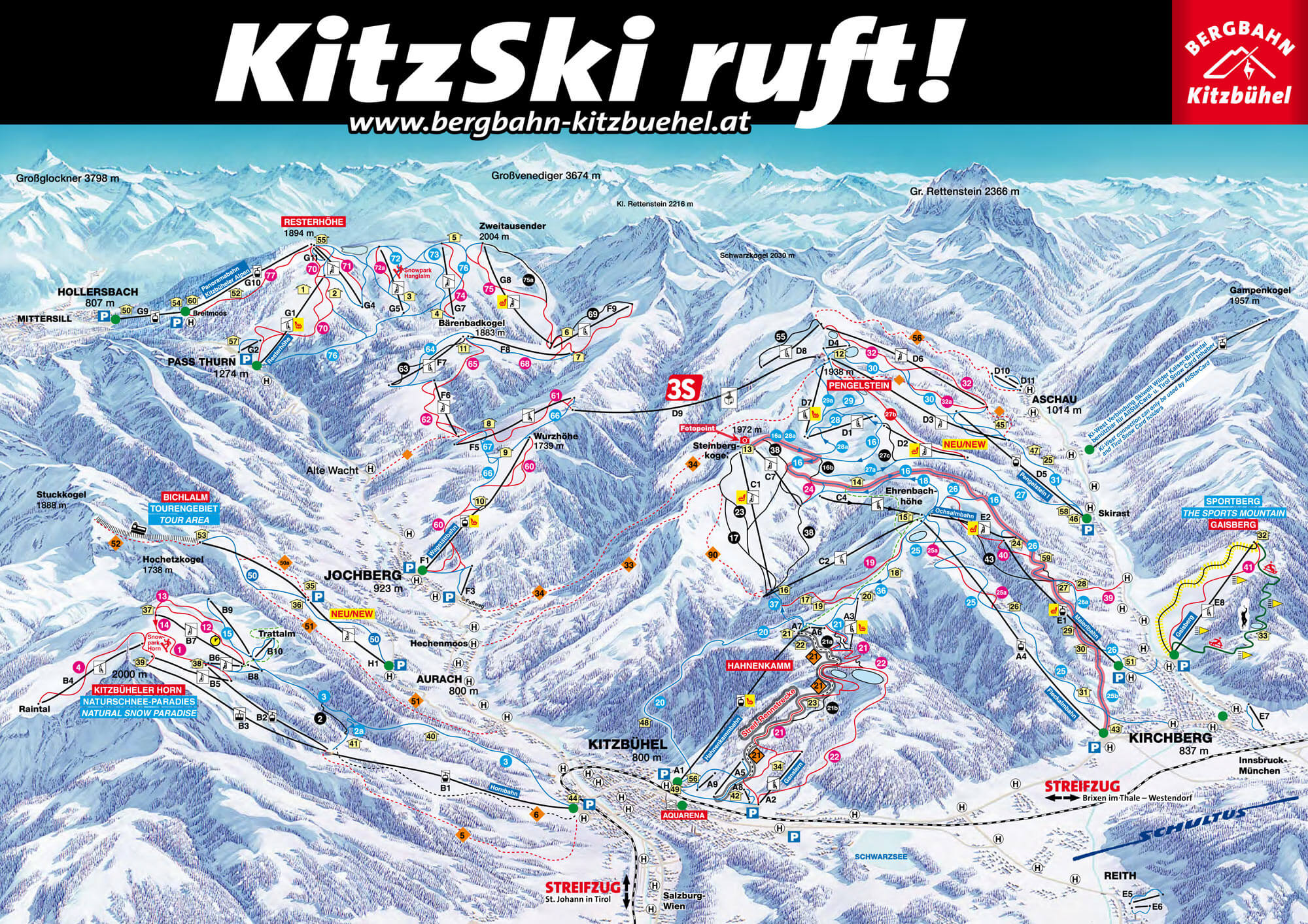 Kitzbuhel piste map