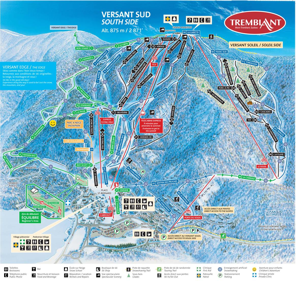 Mont Tremblant piste map